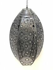 Moroccan Style Lantern Hanging Perforated Lamp Pendant Metal Ceiling Light