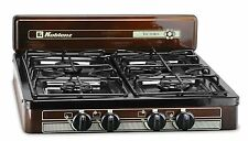 Gas Stove Top Heating Portable Propane 4 Burner Outdoor Camp Backyard Kitchen