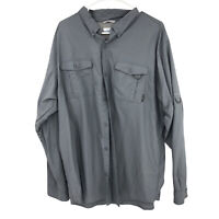 Columbia Button Up Shirt Adult XL Extra Large Gray Outdoors Mens
