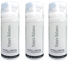 3x 50ml Hyaluron Collagen BOOSTER Gel Hyaluronsäure Falten Kollagen Aloe Vera