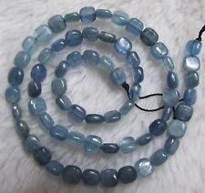 "6mm Natural Blue Kyanite Square Loose Beads 15.5"""
