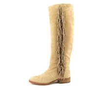 NIB $275 Sam Edelman JOSEPHINE CAMEL LEATHER Over Knee FRINGE Boots Womens 7.5 M