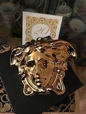 GOLD PORCELAIN MONEY PIGGY HOLDER VERSACE MEDUSA NEW LOVER GIFT IDEA