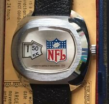 RARE 1976 Super Bowl X NFL Jump Hour Mechanical Wind-up Watch (Swiss Made)
