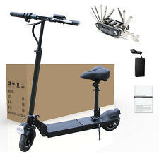 350W Electric Battery Powered Folding Scooter with seat motorized Bike E-Scooter
