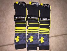 (3) New Boys Under Armour Mountain BIG CAMO Socks Youth Size 1-4 $54 Free Ship