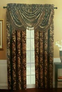 Croscill Chapel Hill Serafina Floral Tailored Lined Curtains Panel  50x84