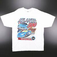 Vintage JERZEES 2006 Racing Car White Sports Short Sleeve T-Shirt Mens XL