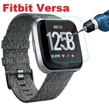 Fitbit Versa Tempered Glass Screen Protector - Smartwatch LCD Film CRYSTAL CLEAR