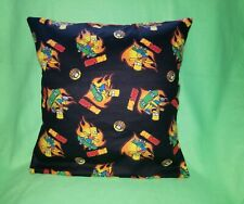 "16"" ACCENT PILLOW SHAM COVER BART SIMPSON TV SHOW SKATEBOARDING FLAME FIRE"
