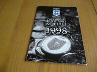 THE OFFICIAL ENGLAND SQUAD MEDAL COLLECTION 1998