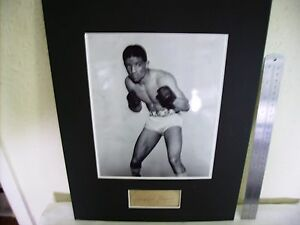"""RANDOLPH """"RANDY"""" TURPIN BOXING AUTHENTIC SIGNED AUTOGRAPH DISPLAY UACC #2"""