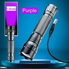 3W 200 Lumen UV Ultraviolet Luxeon LED Flashlight Torch Lamp Battery Powered New