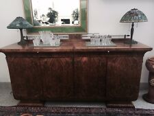 Antique Art Deco Burl Walnut Elegant Buffet Sideboard Spectacular