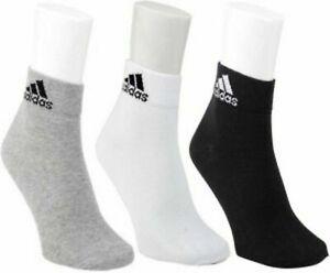 Adidas Cotton Flat Socks, Pack of 3 (Multicolour)