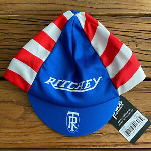 RITCHEY TR FLAG HEX-TEK® Wicking Polyester Team Cycling Cap NEW Hat !