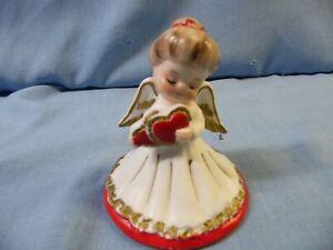VINTAGE LEFTON  VALENTINE ANGEL w/ DOUBLE HEARTS #2774 FIGURINE!