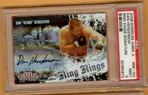 2008 Donruss Americana Ring Kings AUTO Dan Henderson PSA 9 MINT UFC MMA #136/200