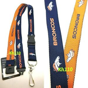 Denver Broncos NFL Keychain Lanyard- Two tone Color