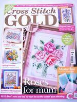 Cross Stitch Gold UK Magazine Issue 12 June 2009 Roses Spring Easter Irises Home