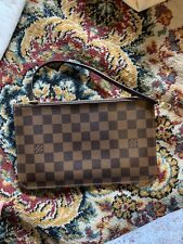 b64ca1ca0 New 100% AUTHENTIC LOUIS VUITTON DAMIER EBENE POUCH FOR NEVERFULL MM