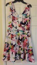 Women Saks Fifth Avenue Floral Sun Dress L