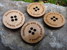 Personalised Wood Buttons - Wedding Favours & Gifts/engraved