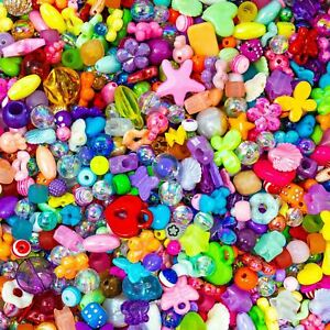 Acrylic Bead Soup. A Mix of Random Sizes and Colours. 30g Pack.