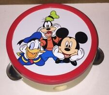 "DIsney Mickey Mouse, Donald Duck, And Goofy Tambourine 6"" Across"