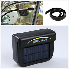 New Solar panels Power Car Summer Window Air Vent Cooler Ventilation Exhaust Fan