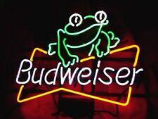 "New Budweiser Bud Light Frog Beer Neon Light Sign 20""x16"""