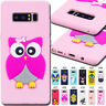 For Samsung Galaxy Note 8 Rubber Soft Case Protective Skin Silicone TPU 3D Cover