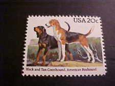 Scott # 2101 Black & Tan Coonhound; American Foxhound Unused OGNH
