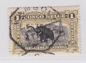 Belgian Congo 1915 Kambove Telegraphic obliteration