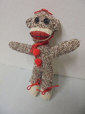 """Monkey Sock Ornament, Made Out Of Material 5.5"""" Tall"""
