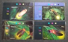 2010 Malaysia Insects Kelip-Kelip Firefly 4v Stamps set TL plate colour code MNH