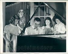 1944 Concert Pianist Webster Aitken Holds Open House For Youth NYC Press Photo