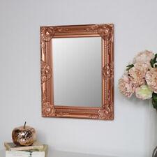 Ornate Copper Wall Mirror rectangle shape vintage living room hallway decor