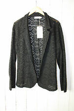 Zizzi Ladies Cardigan Size 46 Black Summer NEW