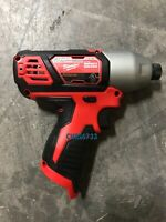"Milwaukee Hex impact driver 2462-20 1/4"" M12 12V Lithium-ion"
