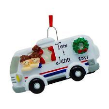 NAME PERSONALIZED RV Camper - Personalized Christmas Tree Ornament Holiday Gift