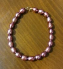 10K Gold Pink Freshwater Pearl Bracelet, Cultured, Deep Pink, 7 1/2 Inches, Prom