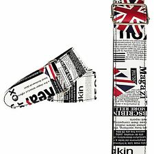 2529 UK UNION JACK FLAG Cool In Pelle Stile GUITAR BASS STRAP la cultura britannica del Regno Unito