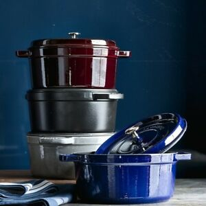 Staub Cast Iron 7-qt Round Cocotte, 8 Colors - Brand New in Retail Box