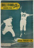 1949 Hollywood Stars vs Oakland Oaks Billy Martin Gilmore Field PCL Program