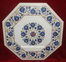 Handicraft Stone Inlay Marble Coffee Table Top, Marble Home Decor Table Tops