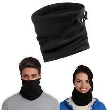 Polar Fleece Neck warmer Unisex Multifunctional Black
