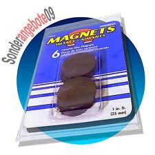 12 Magnete * 2x 6er Pack * rund 4x25mm Magnet Set Rundmagnet  2,5cm Magneten