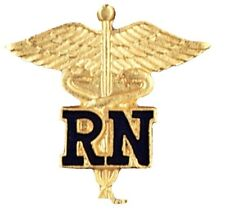 RN Caduceus Lapel Pin Registered Nurse Emblem Graduation Nursing Class Pins New