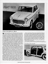 Fiat 1100 Road Test by Road & Track magazine March 1963 NOS